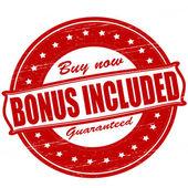 Bonus included — Stock vektor