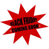 Black Friday coming soon — Stock Vector