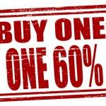 Buy one get one — Stock Vector #49197353