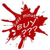 Last minute buy — Stock vektor