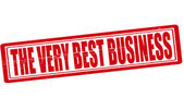 The very best business — Stock Vector