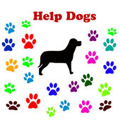Help dogs — Stock Vector