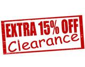 Extra fifteen percent off — Stock Vector