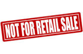 Not for retail sale — Stock Vector