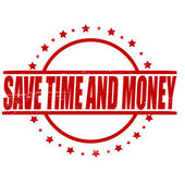 Save time and money — Stock Vector