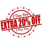 Extra twenty percent off — Stock Vector