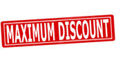 Maximum discount — Stock Vector