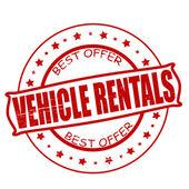 Vehicle rentals — Stock Vector
