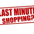 Last minute shopping — Stock Vector
