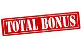 Total bonus — Stock Vector