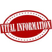 Vital information — Stock Vector