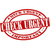 Check urgent — Stock Vector