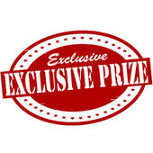 Exclusive prize — Stock Vector