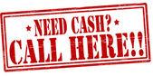 Potřebujete peníze nevolal — Stock vektor