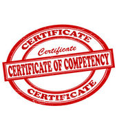 Certificate of competency — Cтоковый вектор