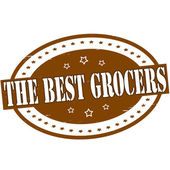 The best grocers — Stock Vector