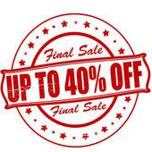 Final sale — Stock Vector