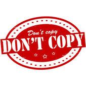 Don t copy — Vettoriale Stock