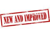 Nuova e migliorata — Vettoriale Stock