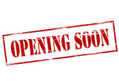 Opening soon — Vettoriale Stock