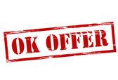 Ok offer — Vettoriale Stock
