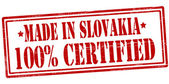 Made in Slovakia one hundred percent certified — Stock Vector