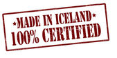 Made in Iceland one hundred percent certified — Stock Vector