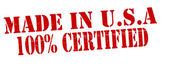 Made in USA one hundred percent certified — Stock Vector