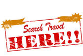 Search travel here — Stock Vector
