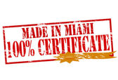 Made in Miami one hundred percent certificate — Stock Vector