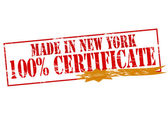 Made in New York one hundred percent certificate — Stock Vector