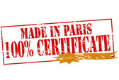 Made in Paris one hundred percent certificate — Stock Vector