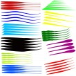 Vector set of colorful brush strokes — Stock Vector