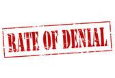Rate of denial — Stock Vector