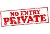 No entry private — Stock Vector