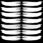 Abstract vector brush stroke on black background — Vector de stock