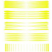 Vector conjunto de pincel grunge sobre fondo blanco — Vector de stock