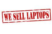 We sell laptops — Vettoriale Stock