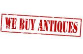 We buy antiques — Stock Vector