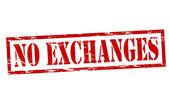 No exchanges — Stock Vector
