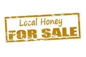 Local honey for sale — Stock Vector