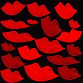 Set van lippen geïllustreerd — Stockvector