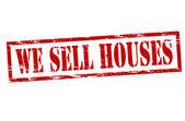 Vendiamo case — Vettoriale Stock