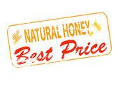 Miód naturalny najlepsza cena — Wektor stockowy