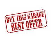 Köpa detta garage — Stockvektor
