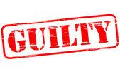 Guilty — Stock Vector