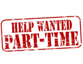 Help wanted part time — 图库矢量图片