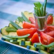 Veggies platter — Stock Photo