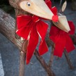 Decorative wooden deer — Stock Photo