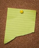 Gele notitie pad — Stockfoto